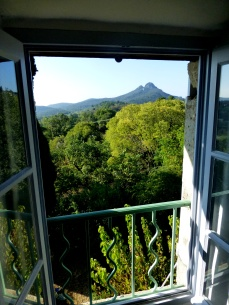 Morning view from the master bedroom towards Les Jumelles
